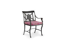 Luxor Armchair Finished In Metallic Graphite With Christopher Farr Fabric