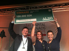 MYoroface vinner 100 000 kr av Almi Invest i Almi Pitch Event