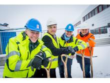 Första spadtaget för nya driftområdet på Arlanda