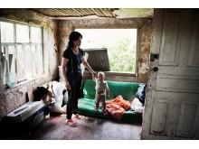 Familj i Ukraina