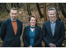 Magnus Berggren, Lisbeth Olsson och Lars Berglund. Foto: Johan Bodell/Chalmers.