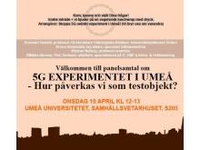 Panelsamtal onsdag 10 april kl 12-13, Umeå Universitet