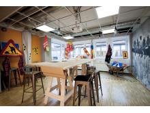 Konferensrummet på SABO som blev ett kreativt byggrum