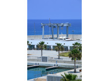 Hi-res image - Karpaz Gate Marina - the impressive travel lift at Karpaz Gate Marina Boatyard