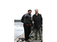 Mr.Fu Youxin och Wallman på båttur