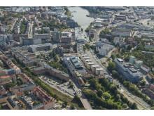 Flygbild Sundbyberg_Fabriksparken