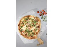 Pizza med glutenfri bunn 2