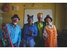 Artisterna Kim, Rupesh, Björn och Suzanne i Indien 2016.