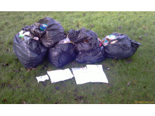 DUMPED: Rubbish left on land off Albert Royds Street in Rochdale