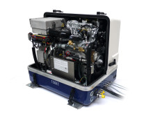 Hi-res image - Fischer Panda UK - Fischer Panda AGT 13kW, 48-volt generator helps charge the battery bank on barge Sacred
