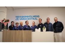 Medarbetare på Kvarnholmens vårdcentral i Nacka utanför Stockholm.