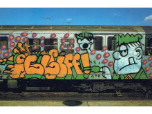 cliff 159 sgt. slugther cartoon on train