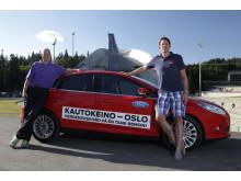 Knut Wilthil og Henrik Borchgrevink satte verdensrekord i økonomikjøring med Ford Focus med den prisbelønte 1.0-liters EcoBoost-motoren