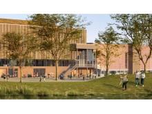 Nye Nidarøhallen - inngang vest