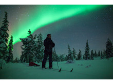 Skiing Under the Aurorae