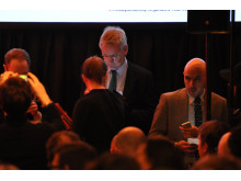 Carl Bildt preparing for his TEDx Talk at the New Diplomacy event