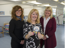 L-R: Shortlisted student Sarah Morey with Northumbria University nursing academics Vanessa Gibson (Teaching Fellow) and Debbie Porteous (Principal Lecturer)