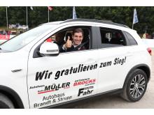 Emanuele Gaudiano,  Sieger bei den DKB-Pferdewochen in Rostock im Großen Preis