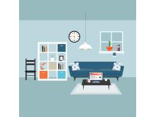 Radonova, radon measurement, apartment