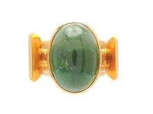 Moderna 10/5, Nr: 98, ROBBERT, ring, 18K guld, grön cabochonslipad turmalin