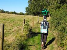 Vandra Skåneleden på Google Street View