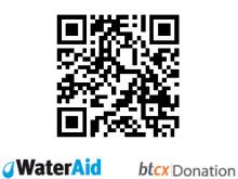 WaterAids QR-kod för bitcoindonationer