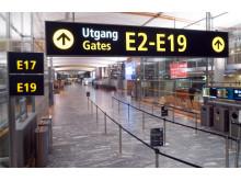 Oslo Lufthavn uten passasjerer