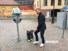 Lars Eliasson från EWAYS i samarbete med Uppsala Parkering 2017-05-30