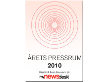 Badge Årets Pressrum 2010