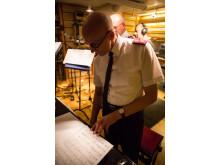 Dick Krommenhoek i studio. Foto: Frelsesarmeen