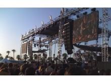 K1-systemet i brug på Coachella-festivalen