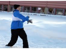 SM i snöbollskrig mycket nära