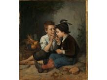 Mathilde Dietrichson, «Sigarrøykende gutter», 1877