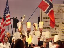 Silbergewinner beim Bocuse d'Or 2017: Christopher William Davidsen (Trondheim, Mitte) mit seinem Team Håvard Werkland (re.) und Gunnar Hvarness (li.)