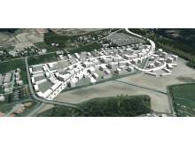 Illustrationsbild över möjlig bebyggelse.