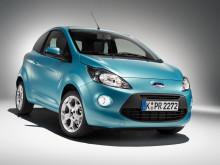 Himmelblå Ford Ka