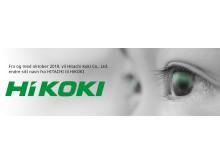 Hitachi bytter navn til HiKOKI oktober 2018
