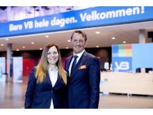 Salgs-og markedssjef Stine Anda Pedersen og daglig leder i VBØystein Kjellsen