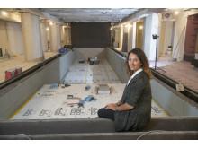 Sofie Glad visar bygget av spa och gym på Elite Palace