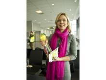 Ministerråd Nina Thornberg inviger flyglinjen Växjö-Oslo