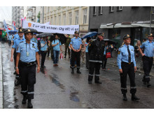 The Norwegian police attends EuroPride 2014 in Oslo with pride.