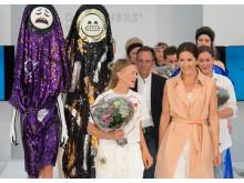 Kronprinsessan Mary av Danmark tillsammans med vinnaren av Designers' Nest Award 2015 Sara Lundberg