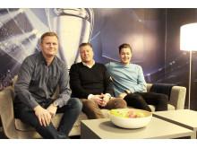 Vegard Drogseth, Børge Nielsen og Fredrik Olimb