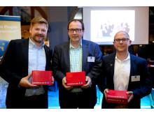 Thomas Ruthmann, Michael Renz und Sascha Braun (v.l.n.r.) konnten  die CeeClub-Activity für sich entscheiden
