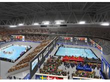 Visionsbild: EM Handboll på Tele2 Arena i Stockholm