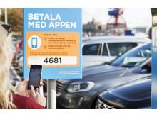 Parkering Göteborg, betala med appen