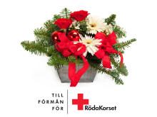 Julblomma till förmån för Röda Korsets arbete