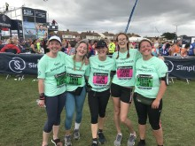 The team from Holmefield Veterinary Clinic at the Simplyhealth Great North Run