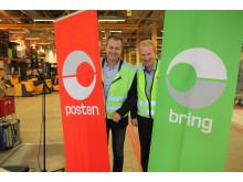 Terminalåpning i Molde. Distriktssjef Steinar Abrahamsen og regiondirektør Per Ivar Tiller.