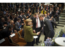 Angela Merkel und Olof Persson beim German Swedish Tech Forum